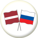 Latvia and Russia Friendship Flag 25mm Pin Button Badge
